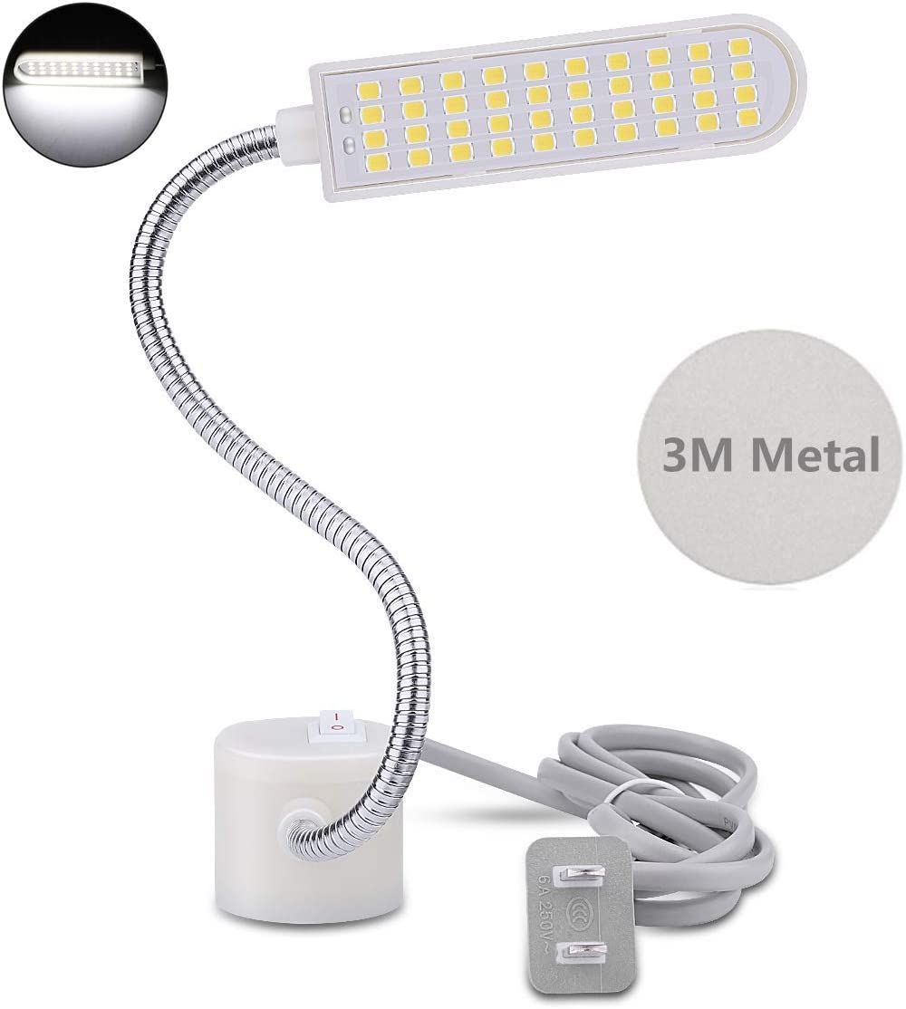 for Any Kinds of Sewing Machines US Plug 8W Industrial Sewing Machine Light Adjustable 50-LEDs Working Lamp