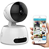 Security Camera, URJD WIFI IP Camera, 720P Dome Camera, Wireless HD Home Security Camera System with Night Vision, Remote Control Cloud Service Available for iOS, Android App