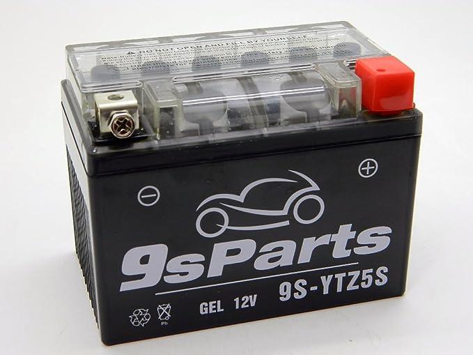 9sparts YTZ5S Maintenace Free 12V Sealed Gel Battery for 2013-2016 Honda  CRF110F CRF125F GROM 125 MSX125, 2003-2017 Kawasaki KLX110 KLX110L,  2011-2016
