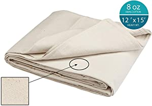 Simpli-Magic 12'x15' 79113 Canvas Drop Cloth (Size: 12' x 15') for All Purpose Use, Ideal for Floor Protection, Curtains, DIY Projects and Furniture