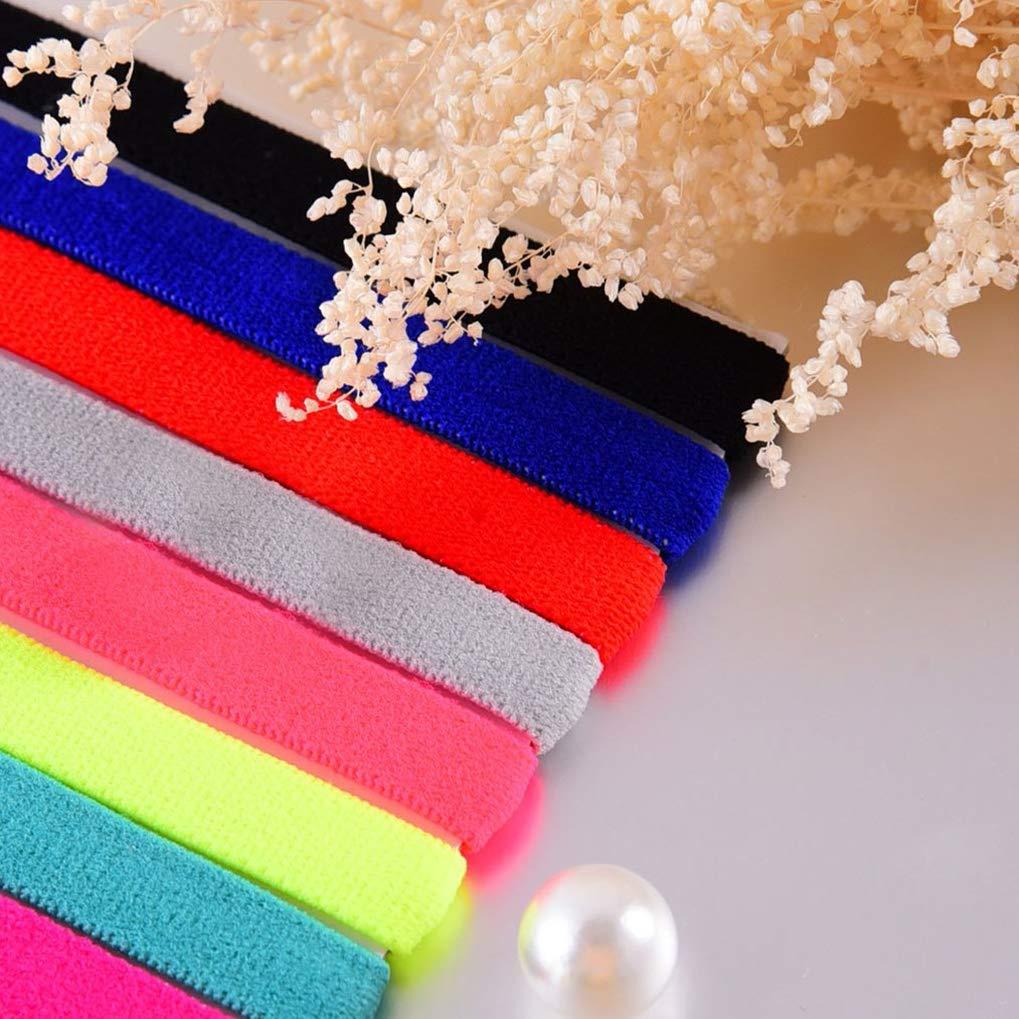 Lystaii 8 St/ück Sport Stirnband Elastische Anti-Rutsch Haarb/änder Schwei/ßb/änder zum Joggen Laufen Yoga Workout Fitness