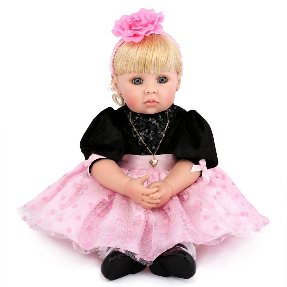 QXMEI 50 cm Rebirth Baby Puppe Babys Silikon Reborn Babypuppen Für Mädchen Geschenk Baden Puppe
