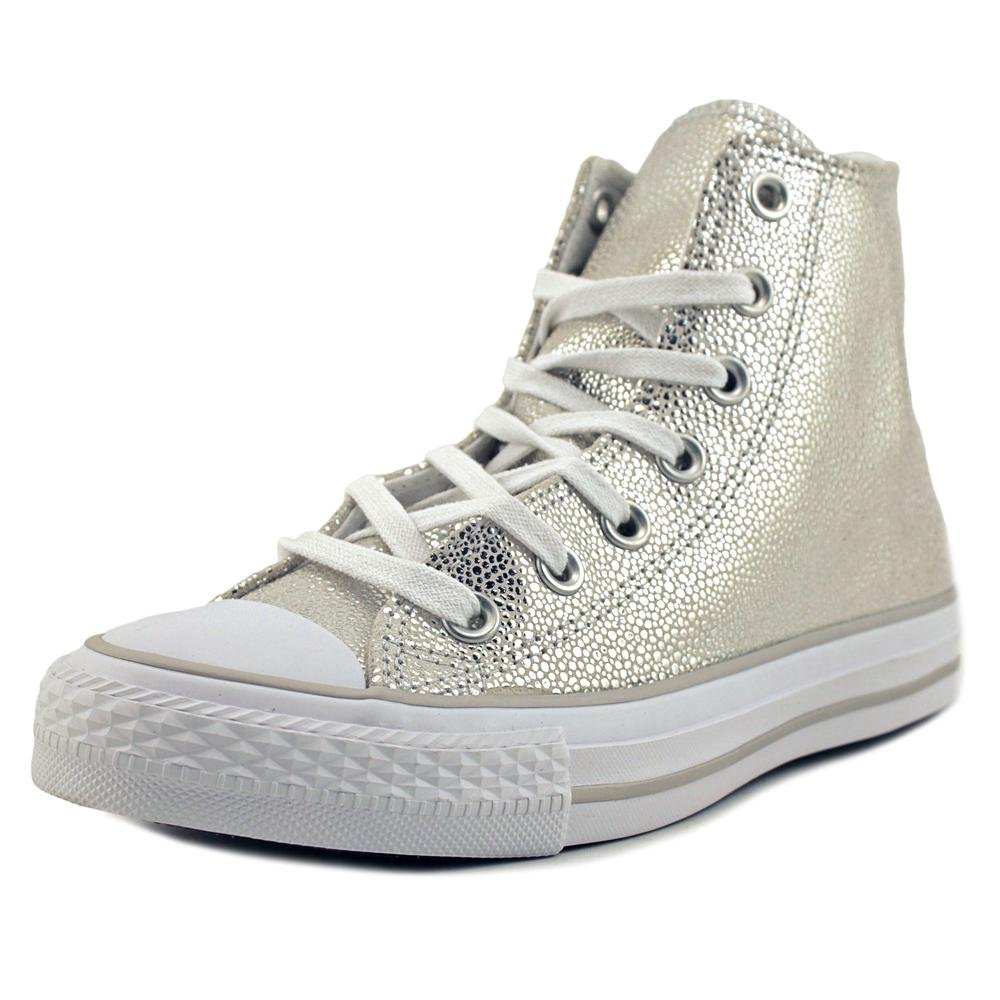 Converse Womens All Star Ox Leather Embossed Skate Shoes B0193UKTH6 6.5 B(M) US|Pure Silver