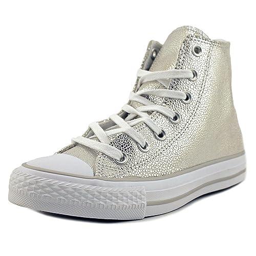all star converse mujer plata
