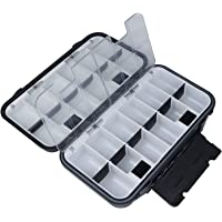 KEESHINE Upgraded Fishing Lure Box, Bait Storage Case Fishing Tackle Storage Trays Accessory Boxes Thicker Plastic Hooks…