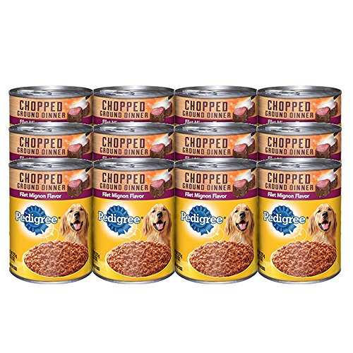 Pedigree Meaty Ground Dinner Filet Mignon Flavor Canned Dog Food 13.2 Ounces (Pack Of 12)
