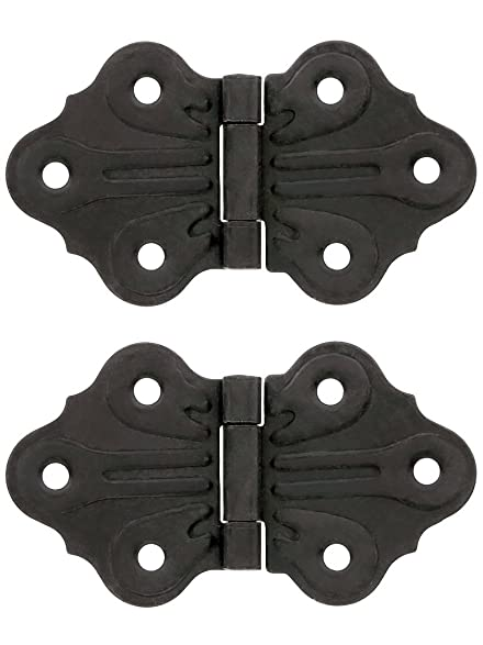Pair Of Butterfly Flush Mount Cabinet Hinges   1 5/8u0026quot; H X 2