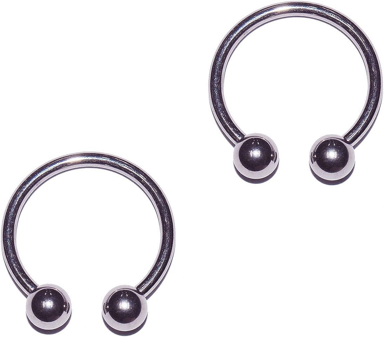 Amazon Com 2x Pieces 14 Gauge 14g 316l Stainless Steel Circular