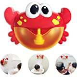 Bath Bubble Maker Automatic Bubble Blower Machine Baby Bath Toys Water Toys for Kids Baby Girl Boy Gifts Crab Toys with 12 Nursery Rhymes