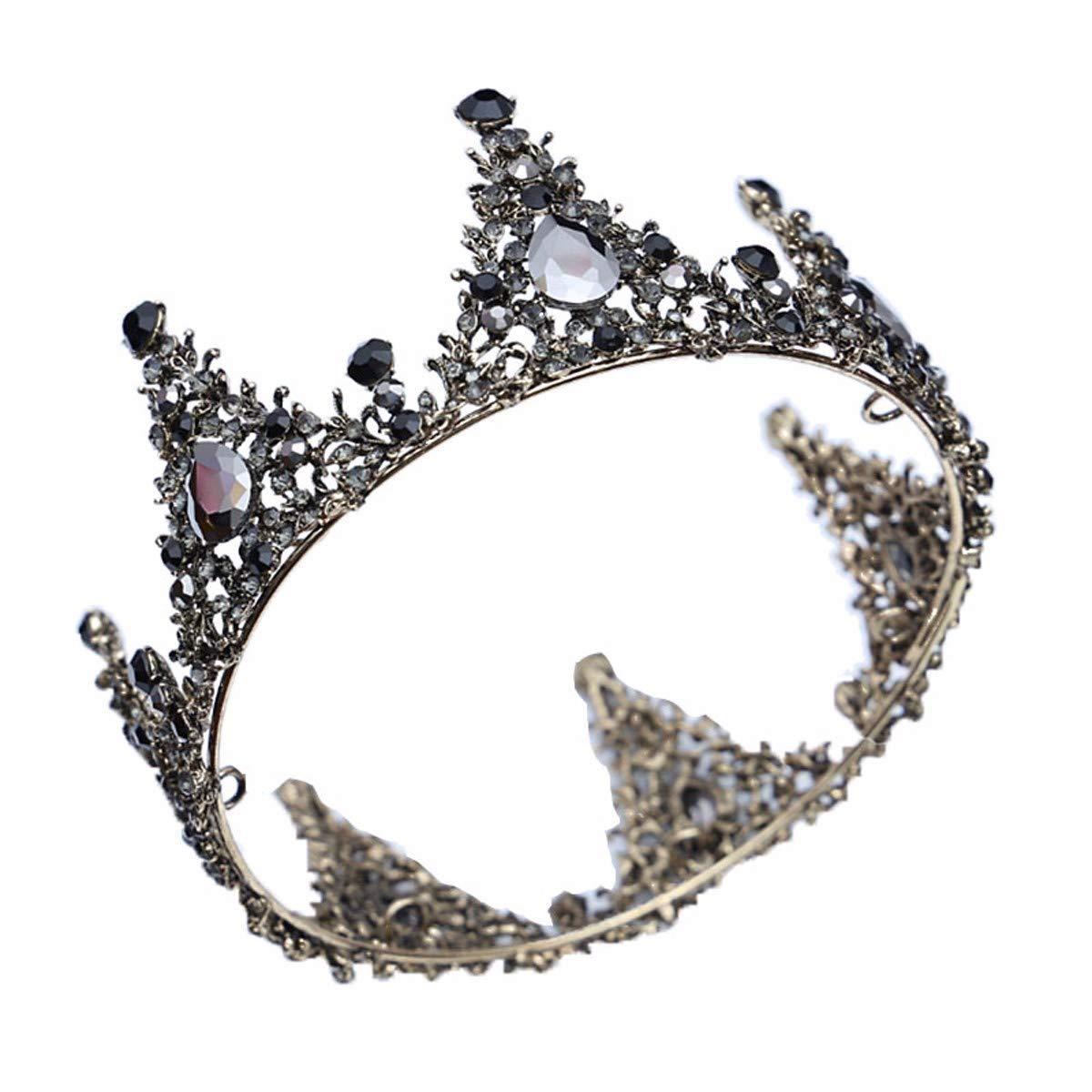 Wedding Crown, Beautiful headdress/Bridal Headwear Air Black Crown Crystal Diamond Wedding Dinner Birthday Dress Accessories Crown