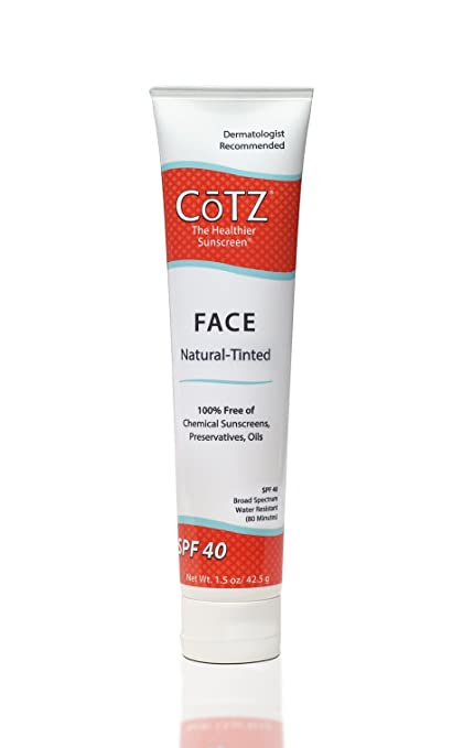 Cotz Face Natural Skin Tone SPF 40, 1.5 Ounce by CoTZ
