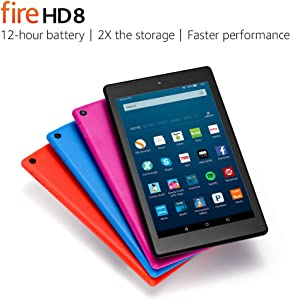 """Fire HD 8 Tablet with Alexa, 8"""" HD Display, 16 GB, Black - with Special Offers (Previous Generation - 6th)"""