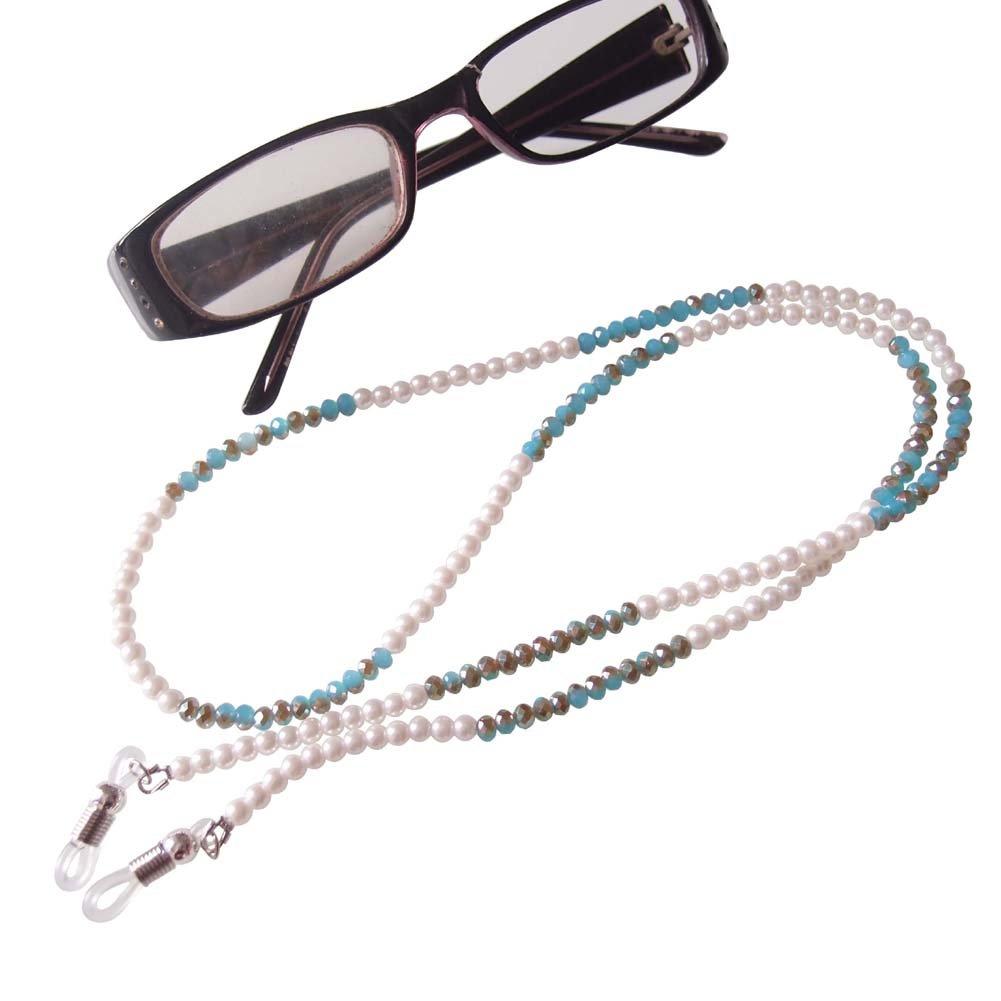Sundysh Pearl Glasses Strap, Fashion Beaded Eyeglass Chain Lanyard Cord