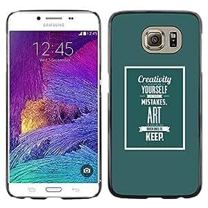 TopCaseStore / la caja del caucho duro de la cubierta de protección de la piel - Art Life Inspirational Text - Samsung Galaxy S6 SM-G920