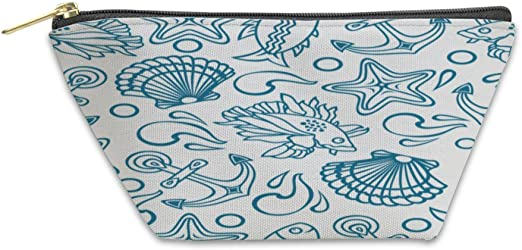 Gear New Shoulder Tote Hand Bag Pattern With Seashells On Blue 3724258GN