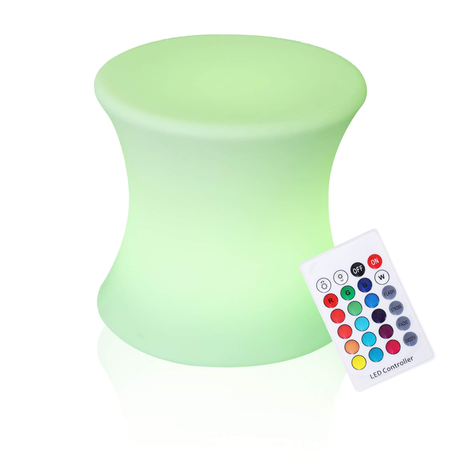 Outsunny 16'' Outdoor Color Changing LED Light Lamp Stool with Remote Control by Outsunny