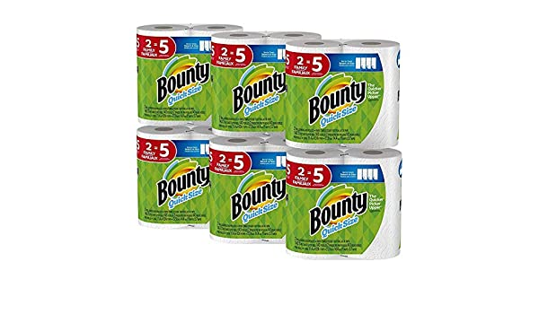 Amazon.com: Bounty Quick-Size Paper Towels, 12 Family Rolls, White (2 Pack (12 Count)): Health & Personal Care