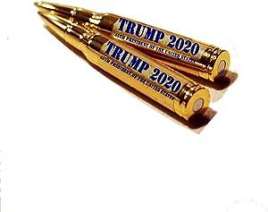 Donald Trump Bullet Pens - Make America Great Again - MAGA Lock and Load 30-Caliber Bullet Pens (Pack of 2)