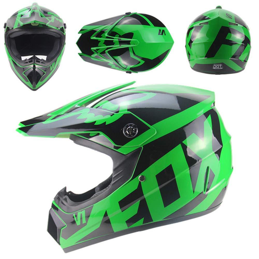 para adultos j/óvenes ni/ños ni/ños con gafas m/áscara de guantes QSWSW Casco de motocross BMX Dh Racing Capacetes Motocross casco de repuesto