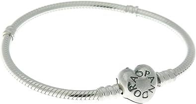 PANDORA Bracelet Sterling Silver, Heart Clasp