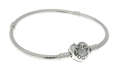 PANDORA 590719 Sterling Silver Heart Clasp Bracelet (6.7 inches)