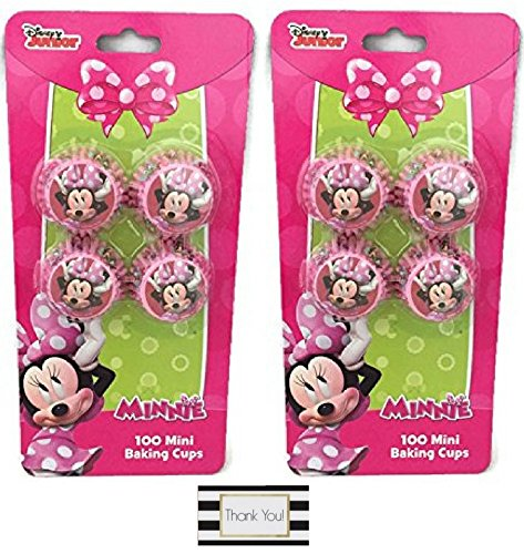 Minnie Mouse Mini Baking Cups - Two Packs of 100 - Cleavage Mini