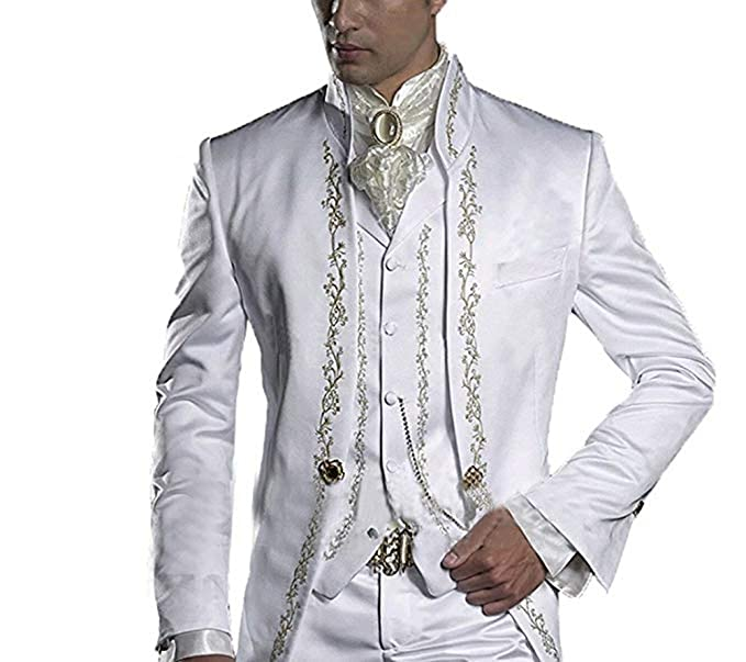 High-End Suits Traje Hombre clásico Italiano de 3 Piezas Bridegroom Trajes  Slim Fit Groom d1e31e098ed