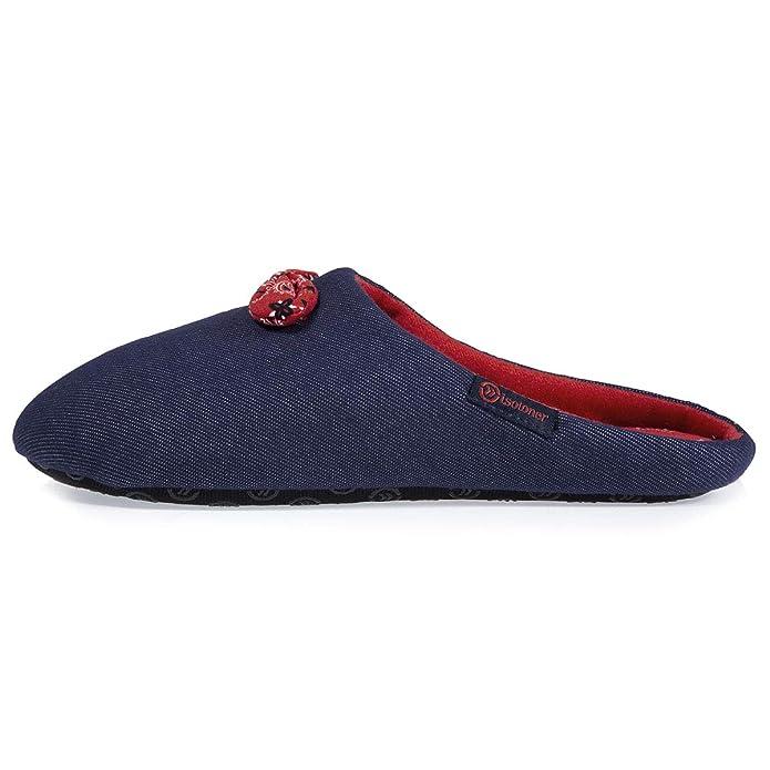 Isotoner - Zapatillas de Estar por Casa Mujer, Azul (Azul), 35/36 EU: Amazon.es: Zapatos y complementos