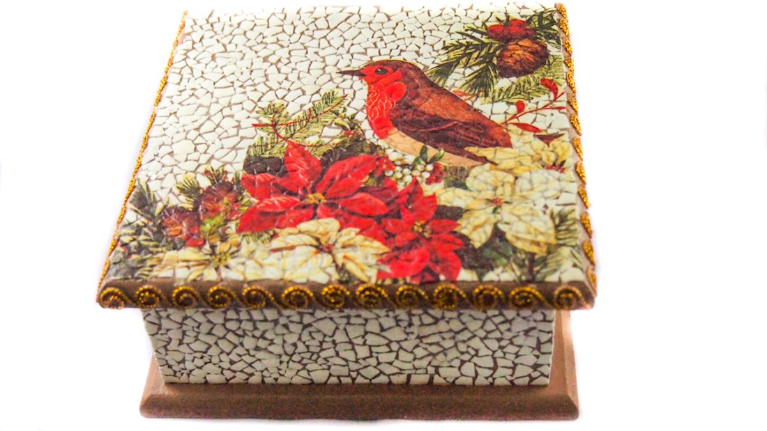 ATS Red Bird Decoration Jewelry Box by ATS