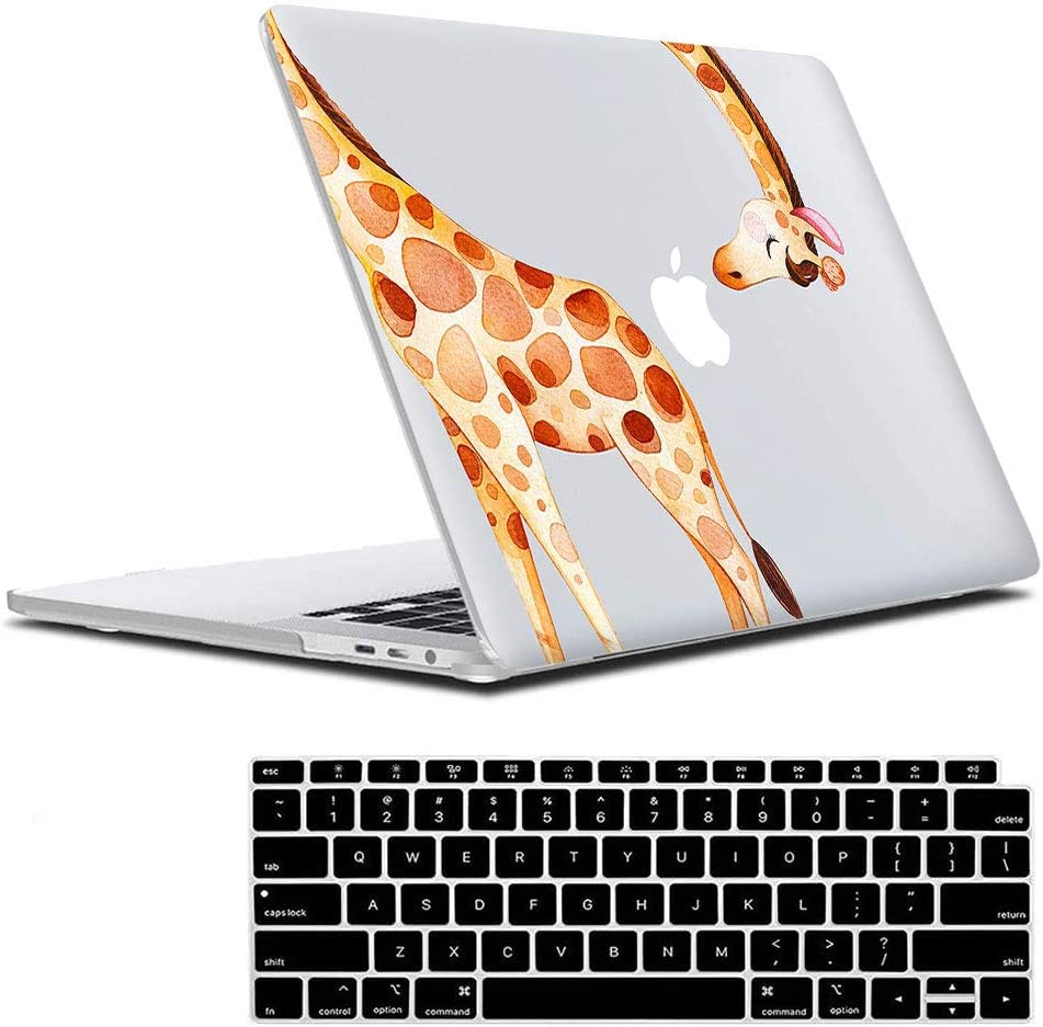 Lapac MacBook Air 13 Inch Clear Case 2020 2019 2018 Release A2179 A1932, Giraffe Animal MacBook Air 13 in Case Hard Shell Case & Retina Display Fits Touch ID with Keyboard Cover(Giraffe(A2179/A1932))