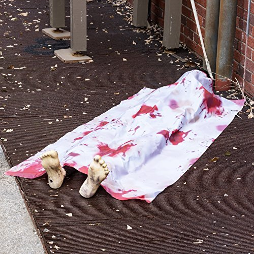 [Prextex Halloween 5 Ft. Long Back From The Grave Dead Body for Creepiest Haunted House Décor Halloween Prop Decorations] (Halloween Prop)