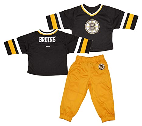 d423cf49c4c Image Unavailable. Image not available for. Color  Reebok Boston Bruins  Toddler 3 4 Sleeve Hockey Jersey ...