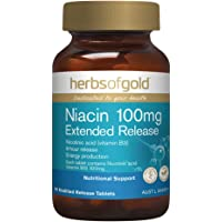 Herbs of Gold Niacin 100mg Extended Release 60 Tablets, 60 count