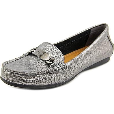 dc1ba664d91 Coach Women s Olive Pebble Grain Leather Loafer Flats