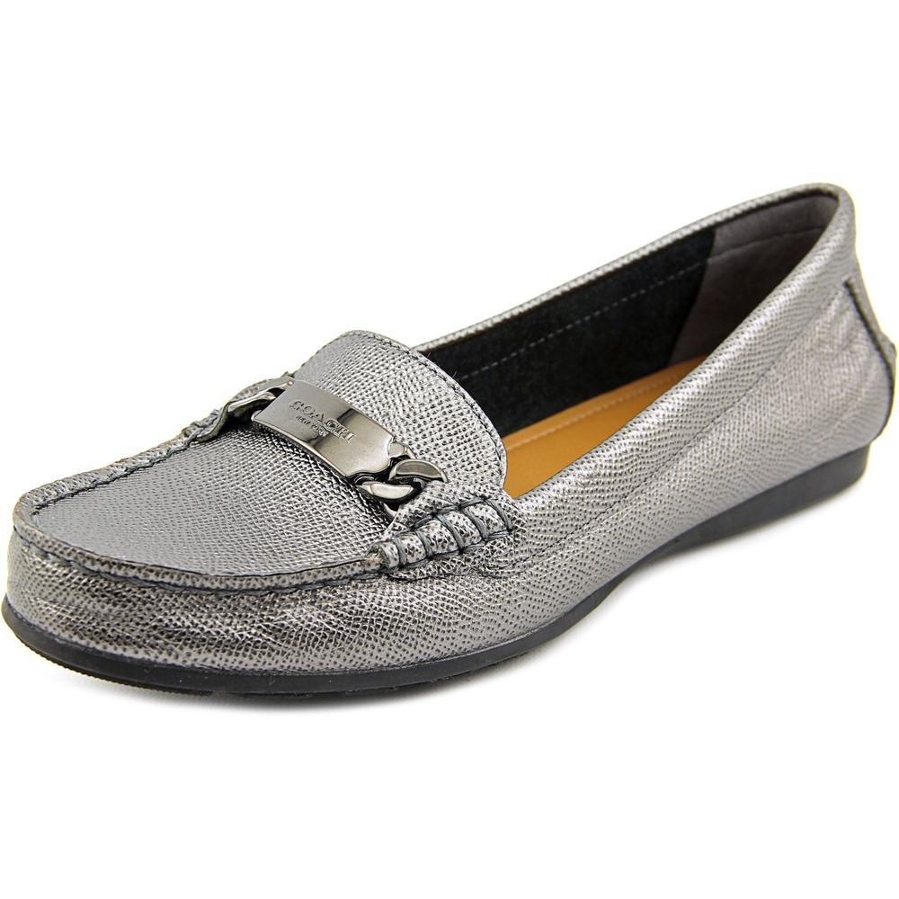 Coach Women's Olive Met Cross Grain Leather Loafer Flats (7)