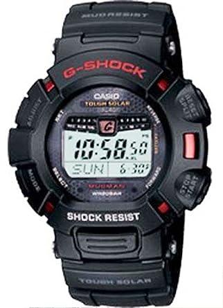 Casio G-9010-1DR - Reloj de caballero de cuarzo con correa de plástico blanca - sumergible a 100 metros: Casio: Amazon.es: Relojes
