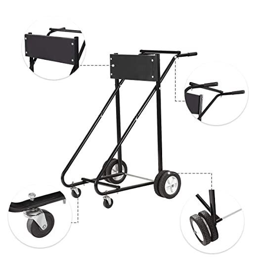 Amazon Com Goplus 315 Lbs Outboard Boat Motor Stand Carrier Cart