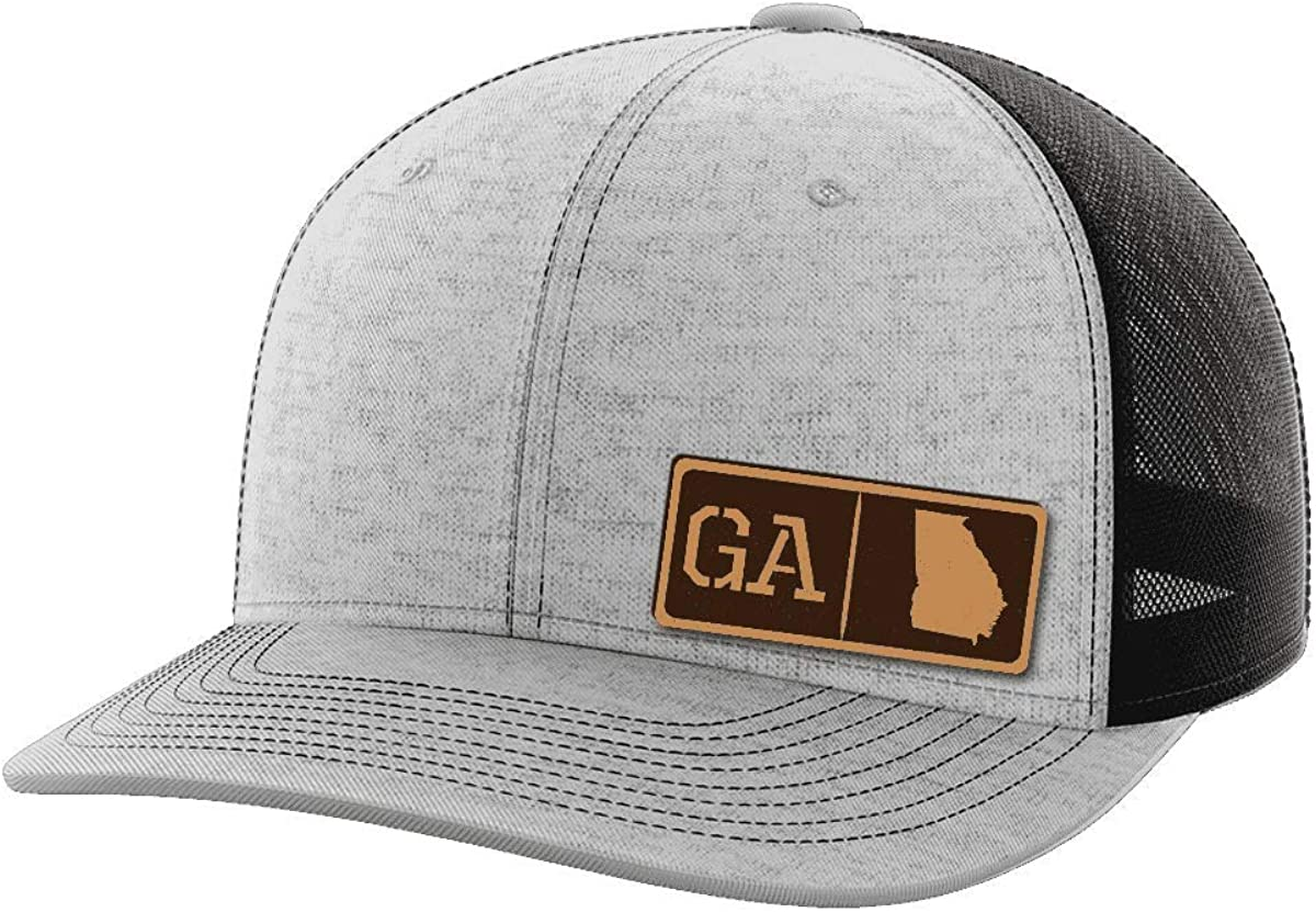 Georgia Homegrown Leather Patch Hat