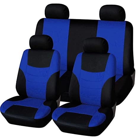 rmg-distribuzione Coprisedili Fodere R27 Nero Blu per C2 Copri sedili Auto Anteriori e Posteriori