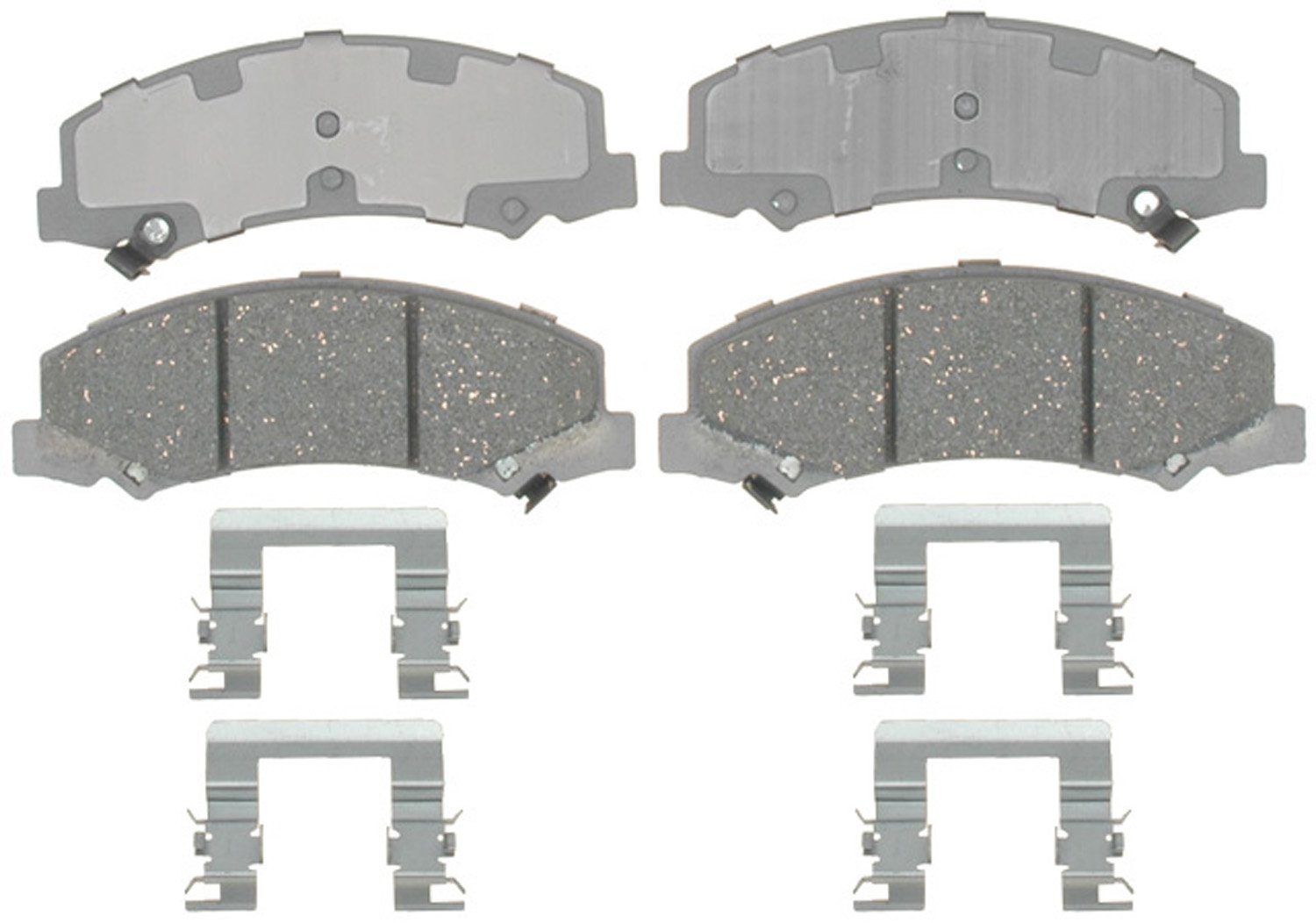 ACDelco 14D1159CH Advantage Ceramic Front Disc Brake Pad Set with Hardware
