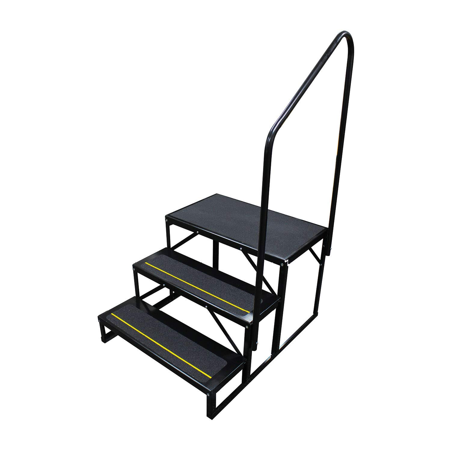 Quick Products Black Standard QP-S5W2S Economy 5th Wheel Stair - 3-Step