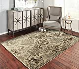 A.S Quality Rugs Large Distressed Living Room Rugs 8x10 Dining Room 8x11 Brown Carpet Clearance Prime