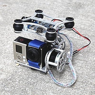 Hellery Controlador Cardan Plataforma Monte de Aluminio con 2 Motores JST para dji Fantasma: Amazon.es: Electrónica