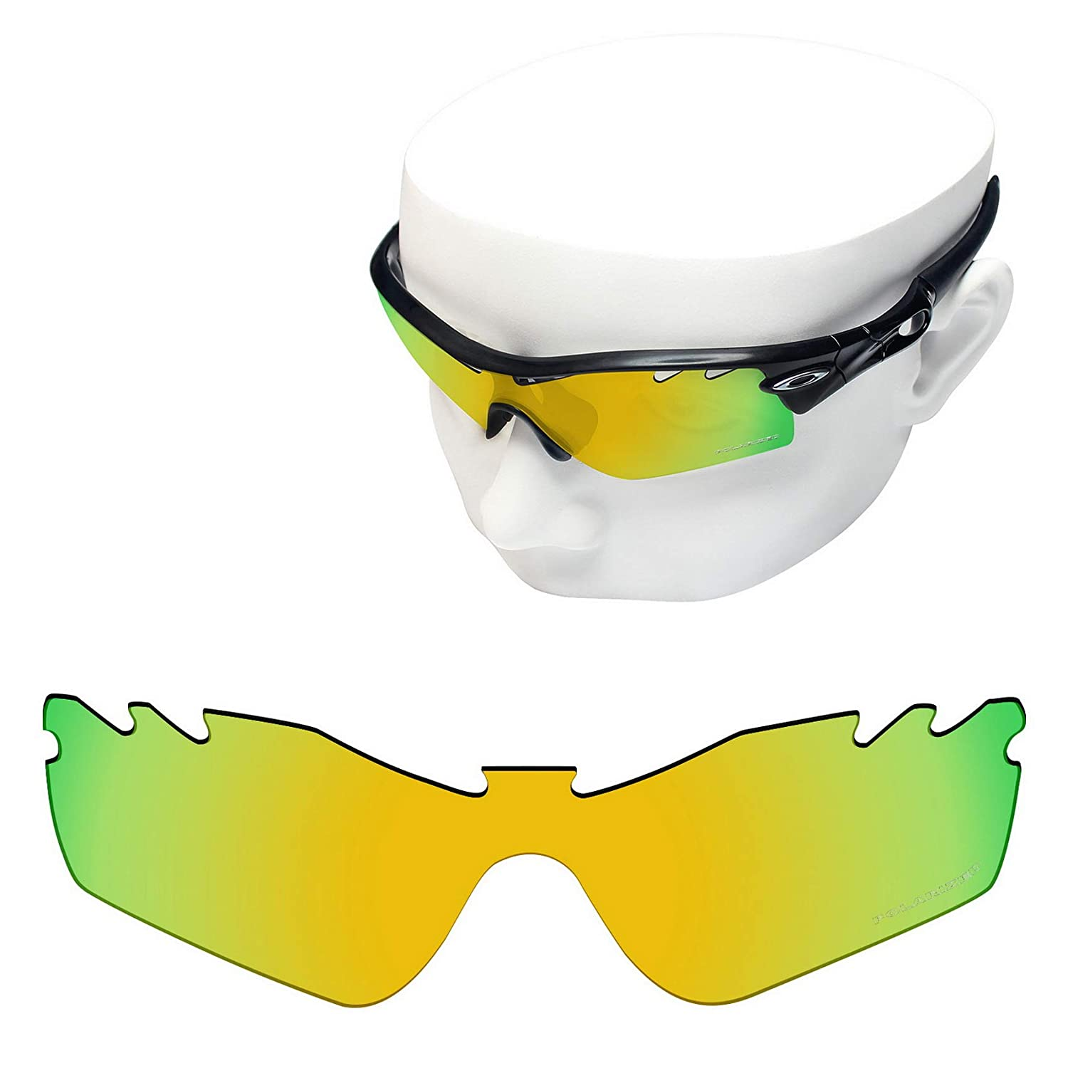 f1fce82082 Amazon.com  OOWLIT Replacement Lenses Compatible with Oakley Radar Path  Vented Sunglass 24K Combine8 Polarized  Clothing