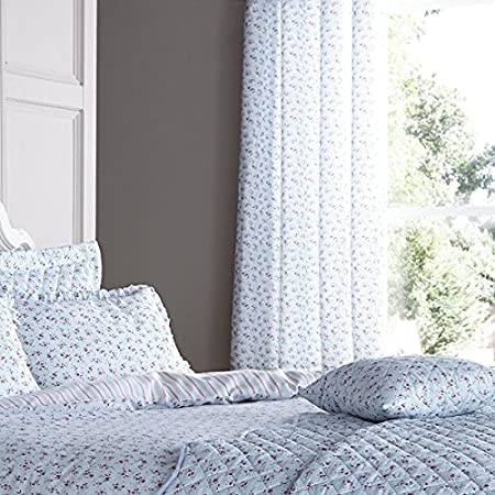 Catherine Lansfield Ditsy Curtains, Duck Egg Blue