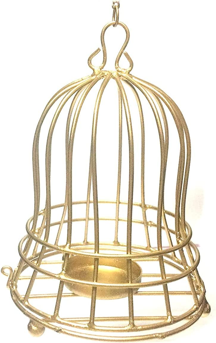 Euphoria Eshop Decorative Bird Cage Shape T-Light Candle Holders for Home Decor/for Wedding and Party Decorations.