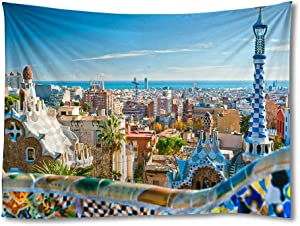 FHYGJD Barcelona Spain Art Print Tapestries,Home Wall Decor Tapestry(30x45 inch)