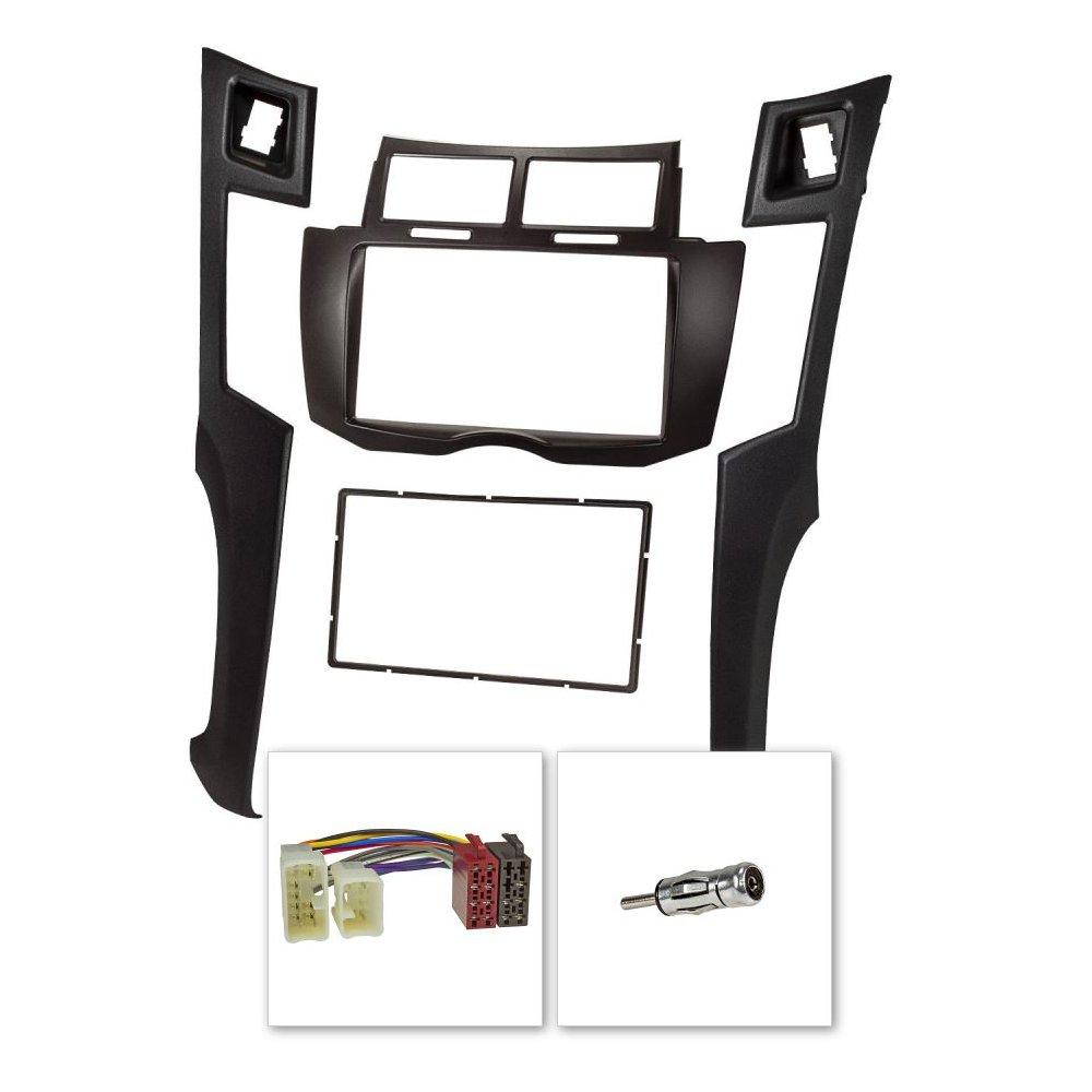 Consulta la sezione DESCRIZIONE per vedere la compatibilit/à dei veicoli. Kit installazione autoradio mascherina doppio DIN