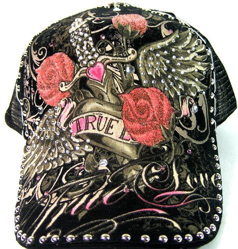 Fashion Hand Made Tattoo Bling Trucker Hat - True Love - Buy Online in  Oman.  52c1fdf35e4