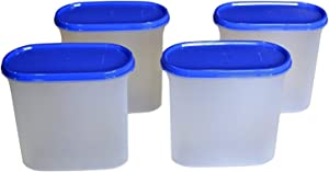 Tupperware MM Oval#3 Storage Container,1.7 Litres - 4 Pieces Transparent